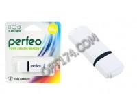 Флэш диск 64 GB USB 2.0 Perfeo C02 White с колпачком