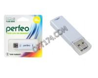Флэш диск 64 GB USB 2.0 Perfeo C06 White с колпачком