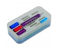 Набор для намотки спирали для электронных испарителей Kuro Concepts 6 насадок (1мм/1, 5мм/2мм/2, 5мм/3мм/3, 5мм)