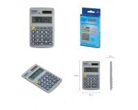 Калькулятор STAFF STF-1008-8 карманный, 8 разрядный, металлический, двойное питание, размер 10, 3х6, 2 см, серебристый (250115)