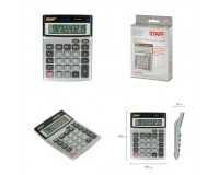 Калькулятор STAFF STF-1110-10 настольный 10 разрядный металлический, двойное питание, расчет процентов, размер 14х10, 5см, серебро (250117)