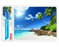 Коврик для мыши Buro BU-M10012 Пляж 230х180х2мм, PVC, резина, нескользящее основание