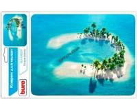 Коврик для мыши Buro BU-M10017 Остров 230х180х2мм, PVC, резина, нескользящее основание