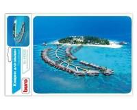 Коврик для мыши Buro BU-M10020 Тропический отель 230х180х2мм, PVC, резина, нескользящее основание