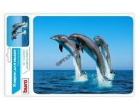 Коврик для мыши Buro BU-M40083 Дельфины 230х180х2мм, PVC, резина, нескользящее основание