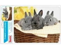 Коврик для мыши Buro BU-M40092 Кролики 230х180х2мм, PVC, резина, нескользящее основание