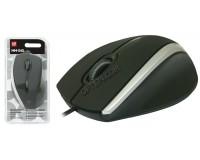Мышь Defender MM-340 USB Optical (1000 dpi) черно-серая, 2 кнопки+кнопка-колесо блистер (52340)