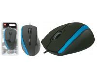 Мышь Defender MM-340 USB Optical (1000 dpi) черно-синяя, 2 кнопки+кнопка-колесо блистер (52344)