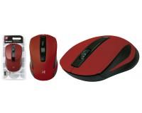 Мышь беспроводная Defender MM-605 USB Optical (1200dpi) красная, 2 кнопки+колесо-кнопка блистер