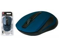 Мышь беспроводная Defender MM-605 Optical (1200dpi) синяя, 2 кнопки+колесо-кнопка блистер (52606)