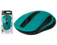Мышь беспроводная Defender MM-605 Optical (1200dpi) зеленая, 2 кнопки+колесо-кнопка блистер (52607)