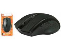Мышь беспроводная Defender MM-665 Accura USB Optical (800/1600dpi) черная, 5 кнопок+кнопка-колесо блистер (52665)