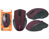 Мышь беспроводная Defender MM-665 Accura Optical (800/1600dpi) красная, 5 кнопок+кнопка-колесо блистер (52668)