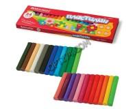 Пластилин BRAUBERG 103351 количество цветов в наборе: 24 цвета масса: 500 г картонная коробка