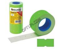 Этикетки BRAUBERG 123571 размер: 21х12 мм прямоугольные зеленые, 5 рулонов по 600шт