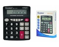 Калькулятор Gaona DS-111-12 настольный, 12 разрядный, размер 20х16 см, черный
