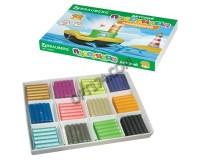 Пластилин BRAUBERG 103644 количество цветов в наборе: 12 цветов масса: 144 г плавающий, перламутровый, стек, картонная коробка