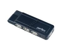 Концентратор USB (HUB) Perfeo PF-4388/PF-VI-H021 4 порта, Black