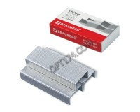 Скобы для степлера BRAUBERG 220950 размер: №24/6, 1000 скоб в коробочке, цинковое покрытие