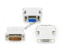 Переходник Cablexpert A-DVI-VGA 9M/15F, пакет, серый