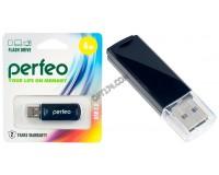 Флэш диск 4 GB USB 2.0 Perfeo C06 Black с колпачком