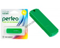 Флэш диск 4 GB USB 2.0 Perfeo C05 Green с колпачком