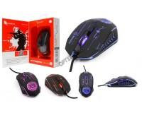 Мышь игровая Gembird MG-510 USB Optical (1000/1200/1600/3200 dpi) черная, 5 кнопок+колесо-кнопка ПО для макросов, RGB подсветка, коробка