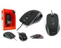 Мышь игровая Gembird MG-500 USB Optical (1000/1200/1600 dpi) черная, 5 кнопок+колесо-кнопка RGB подсветка, коробка