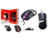 Мышь игровая Gembird MG-520 USB Optical (1000/1200/1600/3200 dpi) черная, 5 кнопок+колесо-кнопка ПО для макросов, RGB подсветка, коробка