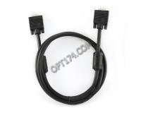 Кабель VGA-VGA Cablexpert 1, 8м, удлинитель тройной экран, ферритовые кольца, пакет, черный (CC-PPVGAX-6B)