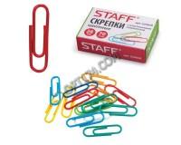 Скрепки STAFF 224630 набор из 70шт., размер 28мм., в картонной коробке, цветное пластиковое покрытие