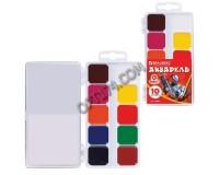 Краски акварельные BRAUBERG 190550 количество цветов: 10, медовые, пластиковая коробка, без кисти