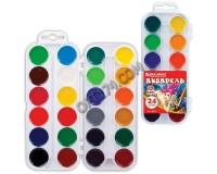 Краски акварельные BRAUBERG 190554 количество цветов: 24, медовые, пластиковая коробка, без кисти