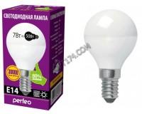 Лампа светодиодная Perfeo G45 7Вт 220В E14 3000K шарик