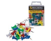 Кнопки гвоздики силовые BRAUBERG 221117 набор из 50шт., размер 10мм., в пластиковой коробке, цветные