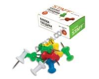 Кнопки гвоздики силовые STAFF 224770 набор из 50шт., размер 10мм., в картонной коробке, цветные