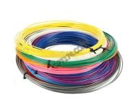 Пластик для 3D-ручки Орбита PM-TYP02 (D-10) ABS 1.75мм., количество цветов: 10 (жёлтый, белый, голубой, фиолетовый, зелёный, розовый, красный, чёрный, оранжевый, синий) по 3 м.