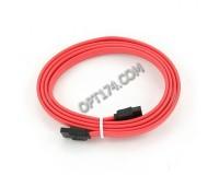 Кабель интерфейсный SATA Cablexpert длина 1м, 7pin/7pin, пакет, красный (CC-SATA-DATA-XL)