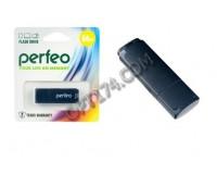 Флэш диск 64 GB USB 2.0 Perfeo C04 Black с колпачком