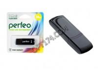 Флэш диск 64 GB USB 2.0 Perfeo C09 Black с колпачком