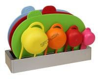 Набор разделочных досок Pomid'oro SET78 Paletta 3 пластиковых доски + 4 мерные чашки, на подставке