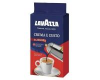 Кофе молотый LAVAZZA 620174 Crema e Gusto 250 г., натуральный, сильная степень обжарки, вакуумная упаковка, 3876