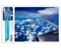 Коврик для мыши Buro BU-R51748 Самолет 220х180х2мм, резина, нескользящее основание