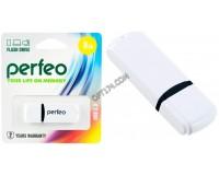 Флэш диск 8 GB USB 2.0 Perfeo C02 White с колпачком