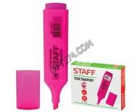 Маркер текстовый STAFF 150731 скошенный наконечник 1-5 мм цвет чернил: розовый