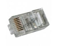 """Коннектор (RJ45 8p8c) - PLUG3UP6/5 универсальный для одножильного или многожильного кабеля, контакты медные с золотым напылением 6m"""""""