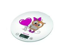 Весы кухонные Maxwell MW-1472 электронные цена деления 1 г. max 5 кг. дисплей 42х19мм, индикация перегрузки, автоотключение, платформа 18х18см, белые