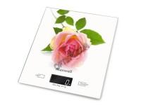 Весы кухонные Maxwell MW-1476 электронные цена деления 1 г. max 5 кг. дисплей 45, 8х17мм, индикация перегрузки, автоотключение, питание (2хAAA), размер 22x19.5x3.5см, белые
