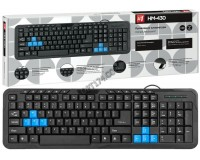 Клавиатура Defender HM-430 RU USB Black 104 клавиши+3 клавиш управления питанием+12 клавиш (45430)