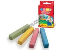 Мел цветной Пифагор 221977 квадратные, в комплекте - 4 штуки, картонная упаковка